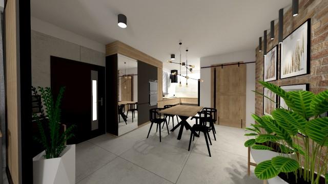 Apartament Męski Świat - wizualizacja - Jowita Błaszczyk Jowita Błaszczyk projektowanie wnętrz