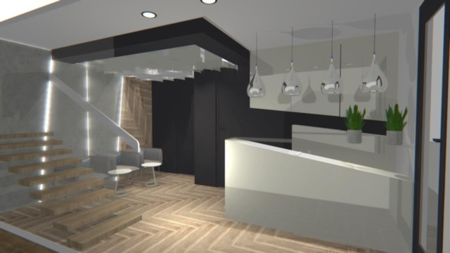 Gabinet Dentystyczny - wizualizacja - Jowita Błaszczyk Jowita Błaszczyk projektowanie wnętrz