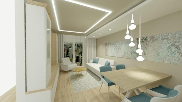 Mieszkanie Manchatan - wizualizacja - Jowita Błaszczyk Jowita Błaszczyk projektowanie wnętrz