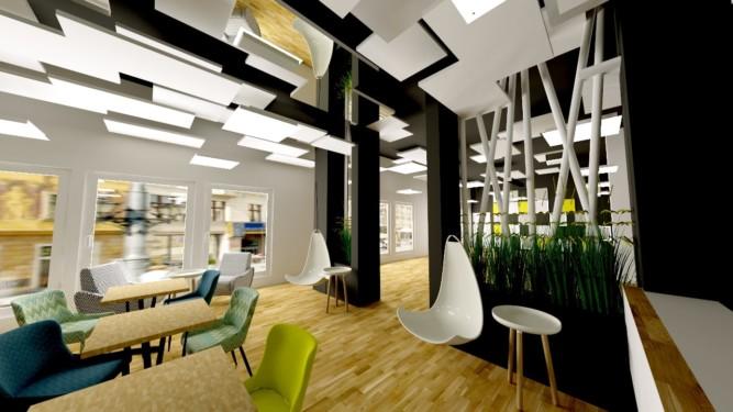 Siłownia Fit Plaza - wizualizacja - Jowita Błaszczyk Jowita Błaszczyk projektowanie wnętrz