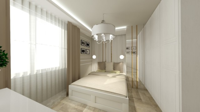 Sypialnia Rąbień - wizualizacja - Jowita Błaszczyk Jowita Błaszczyk projektowanie wnętrz